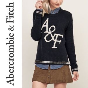NWT Abercrombie & Fitch Statement Logo Sweater